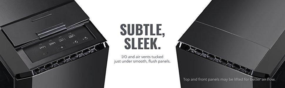 subtle sleek I/O IO air vents smooth flush panels panel