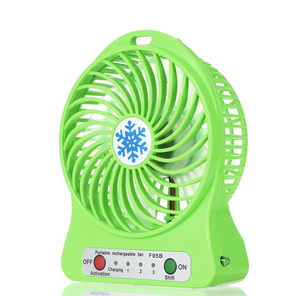 Portable Rechargeable L Ed Light Fan Mini Desk Usb Charging Air Cooler 3 Mode Sd Regulation Lighting Function Cooling No Battery