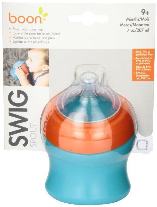 Boon Swig Spout Top Sippy Cup 7oz (Blue/Orange)
