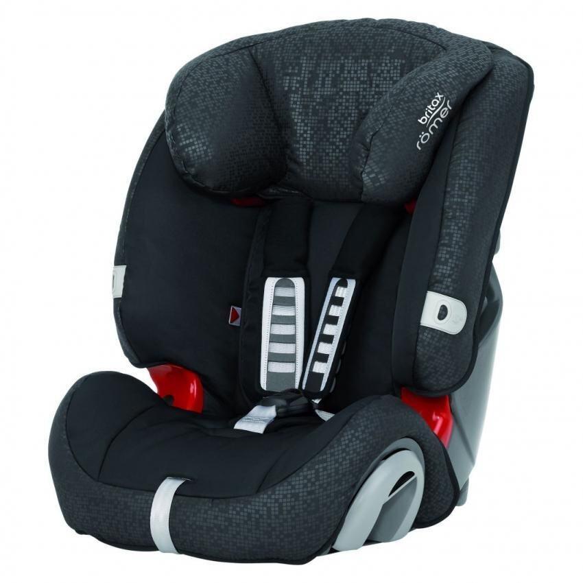 Britax Evolva 1-2-3 Car Seat-Black Thunder UK edition 2016 New stock