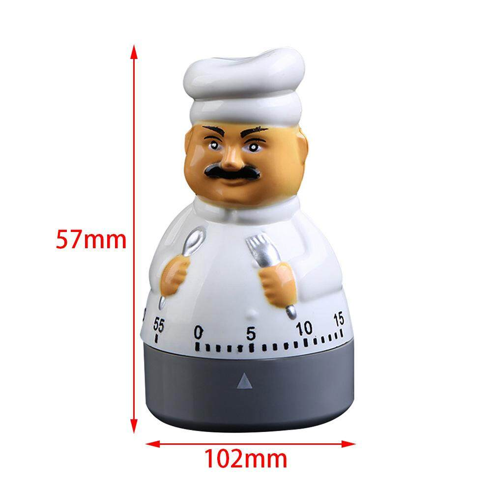 Small Mechanical Plastic Timer Time Reminders Fun Alarm Chef 60 Minutes  Cook Home Supplies