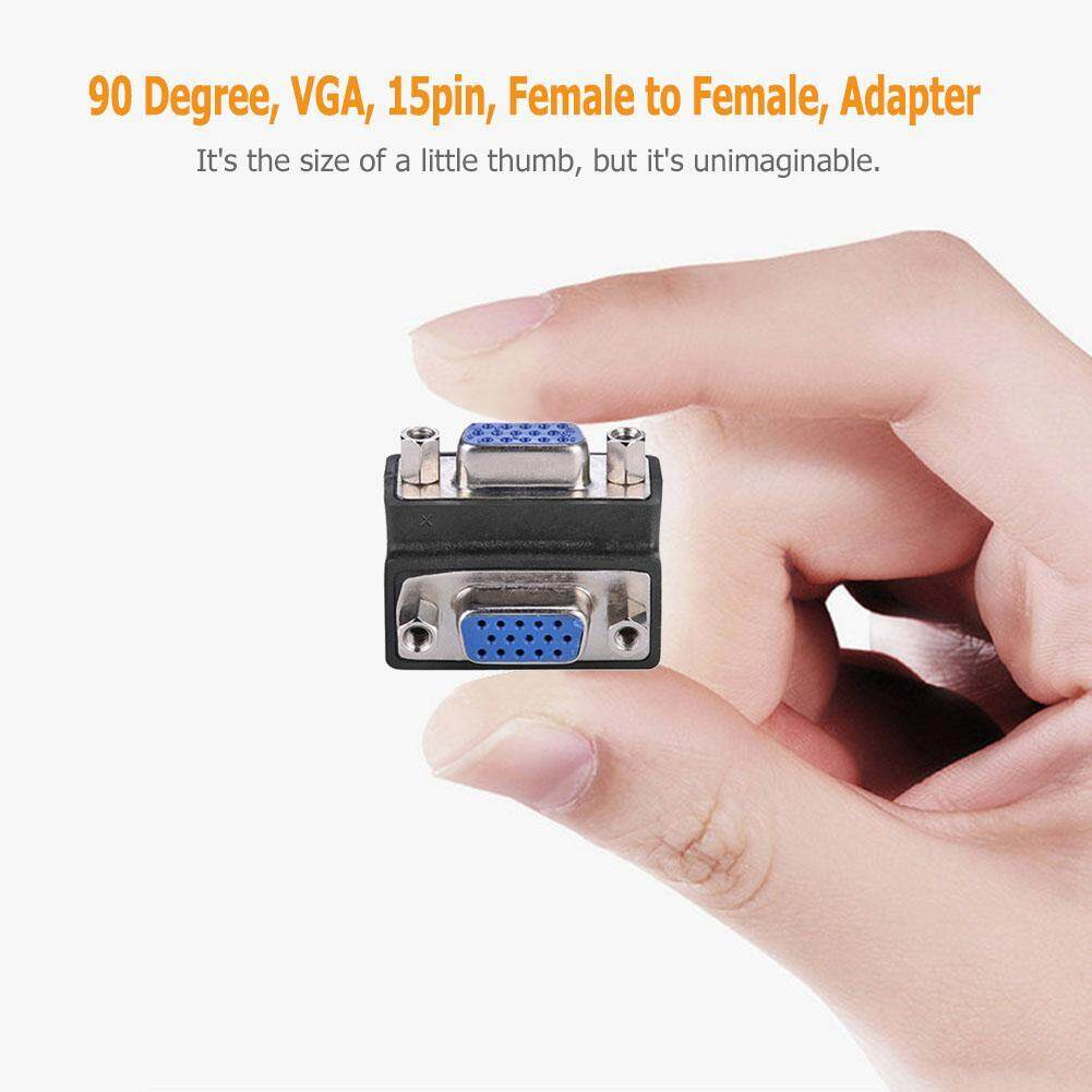 {Hot Sale Festival}90 Degree VGA 15Pin to Adapter Connector Coupler Vga Wiring on computer monitor, d4 video connector, game port, composite video, ps/2 connector, computer port, mini-din connector, audio and video interfaces and connectors, kvm switch, bnc connector,