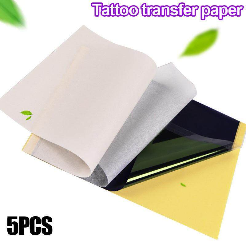 5 Sheets Tattoo Transfer Carbon Paper Supply Tracing Copy Body Art Thermal Stencil A4 Size Lazada
