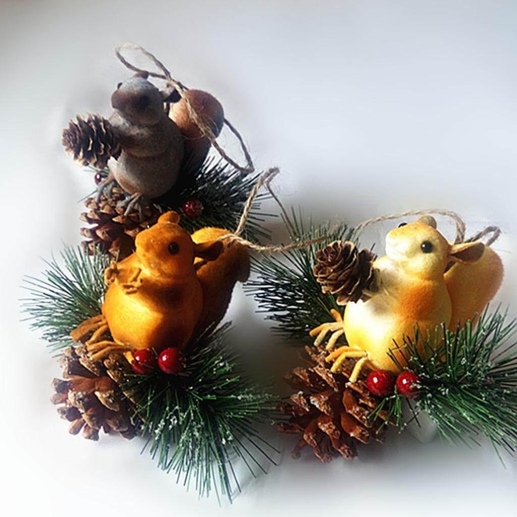 Hanging Squirrel Farm Animals Sculpture Figurine Indoor Home Garden Ornament