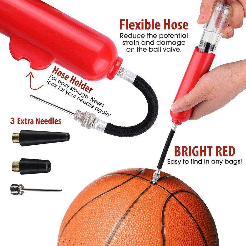 Ogquaton Basketball Football Inflatable Toys Pump Needle Small Inflating Pump Blue