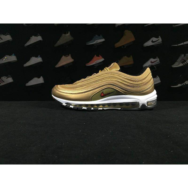 on sale e9c3c d55ca 100% Original NIKE_ AIR MAX_ 97 OG QS Gold bullet 884421 700 size;36--44