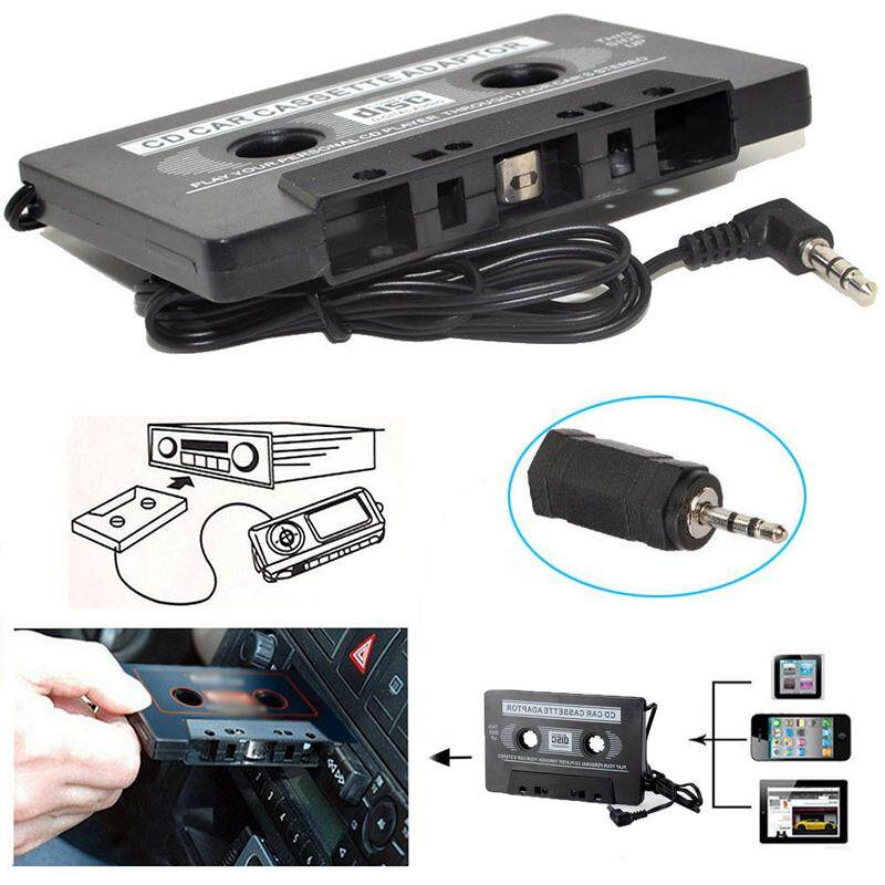 MagicWorldMall Tape Cassette Adapter Tape Cassette Shape Black AUX 3 5MM  Jack Automobile Car Stereo Cell Phone MP3 Car Audio Premium Quality Classic