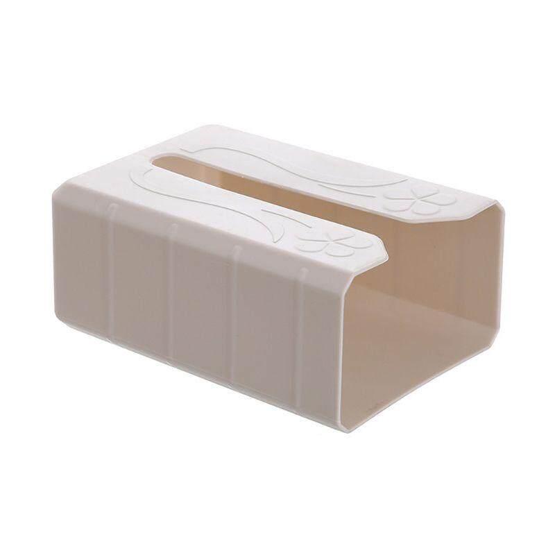 Self Adhesive Tissue Box Wall Mounted Garbage Bag Dispenser Rack Napkin Holder