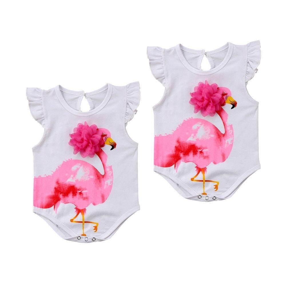 Baby Girl Short Sleeve Jumpsuit Flamingo Spirit Animal 1 Toddler Jumpsuit
