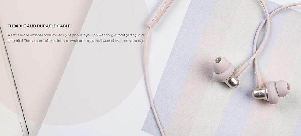 1 MORE Stylish E1025 Dual Dynamic Earphones In-ear Stereo Earbuds with Mic and In-line Control- Pink