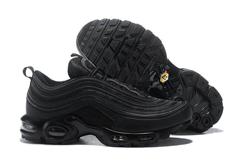 san francisco 0763c 555f8 Fashion Nike Air Max 97 Plus TN Vingtage Running Shoes Men Fashion Black  Sports sneakers