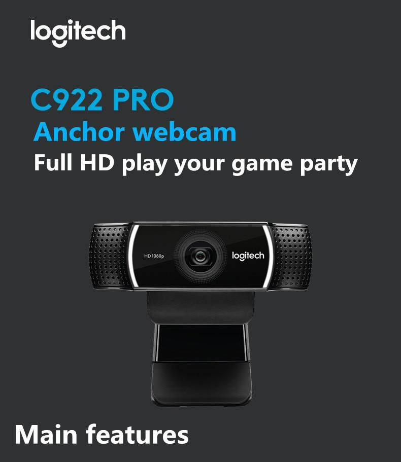 Original LogitechC922 PRO webcam professional streaming media webcam with  microphone full HD 1080P video auto focus webcam
