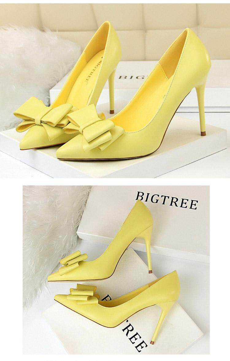 97434396df5 Casual Bigtree Shoes Women High Heels Pink Women Shoes Spring Women Pumps  Butterfly-knot Wedding Shoes plus Size 35-43 Sexy Stiletto