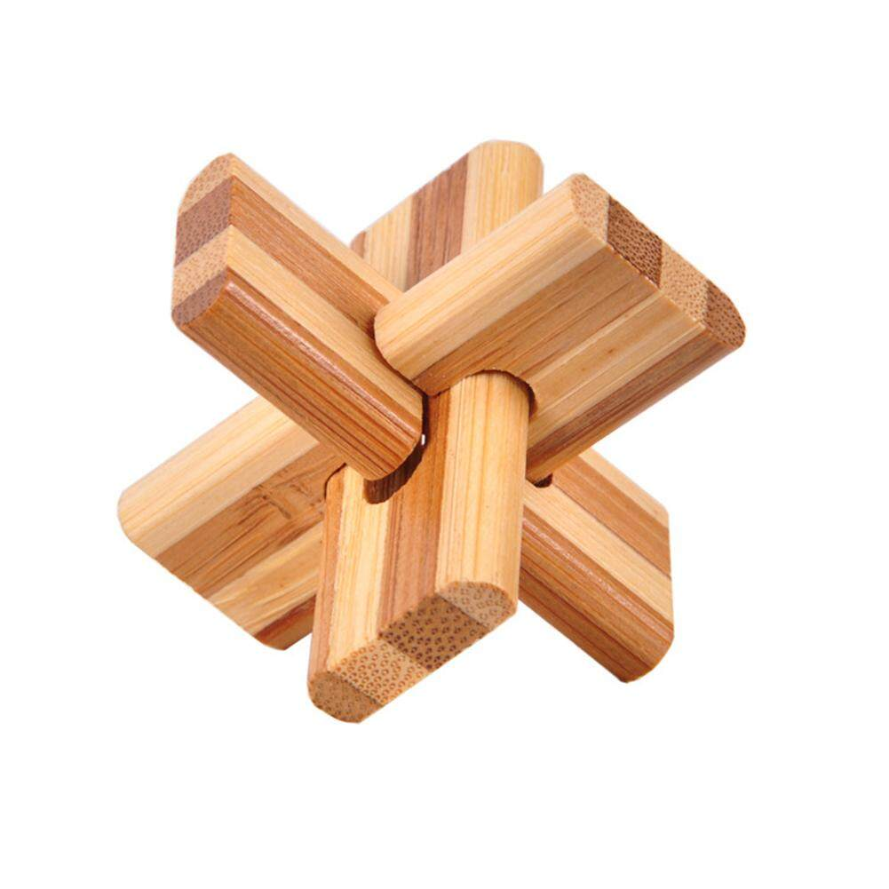 Wooden Box 3D Puzzle Intelligence Toys Kongming Lock Brain Teaser Cube Toy