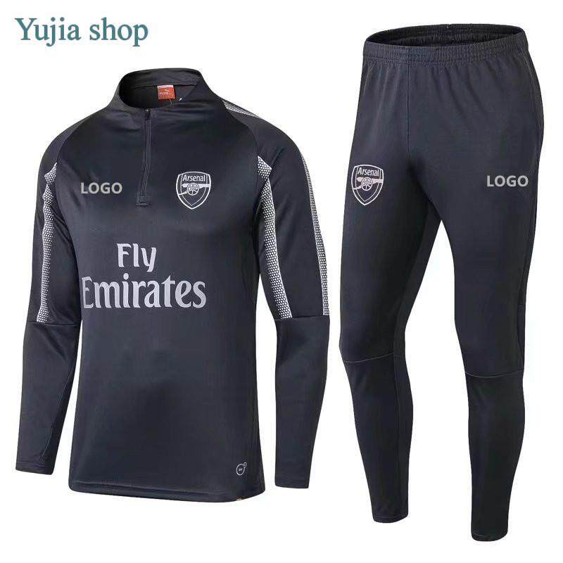 super popular 82607 ee94d 1819 Arsenal Grey training suit football jersey with the best quality Long  sleeve shirt and pants