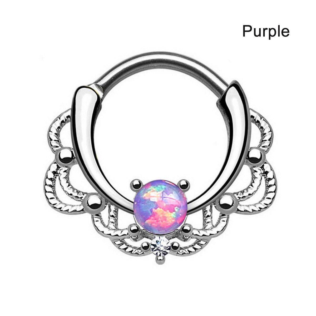 Trendy Nose Ring Vintage Gem Decorated Titanium Nose Hoop Piercing Ring Body Jewelry For Women Buy Online At Best Prices In Myanmar Shop Com Mm