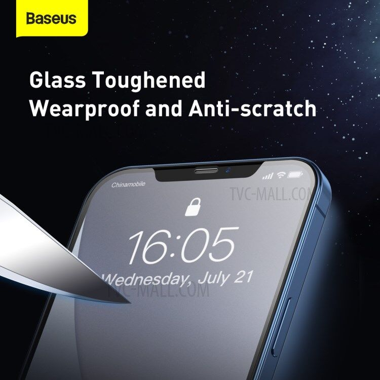 Baseus iPhone 12 Pro Full Screen 0.25mm 6.1 inch Tempered Glass Film 2 Pack 2