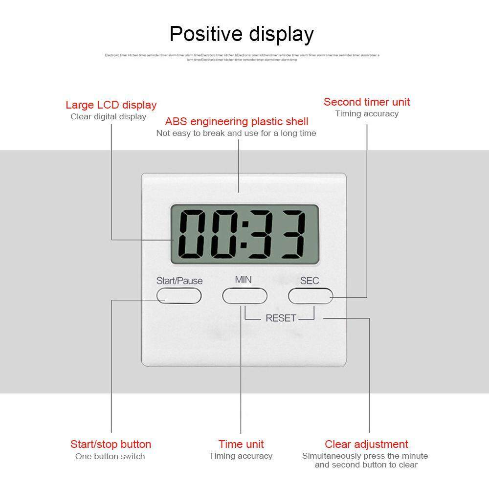 Vigo Large LCD Digital Cooking Timer Accurate Timing Count-Down Up Clock  Magnetic Design Reminder Kitchen Practical Alarm
