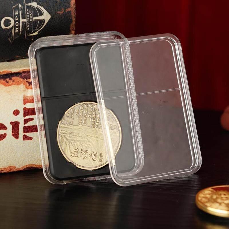 5Pcs commemorative coin identification box Coin collection protection box  Coin holder collection storage box with label identification box