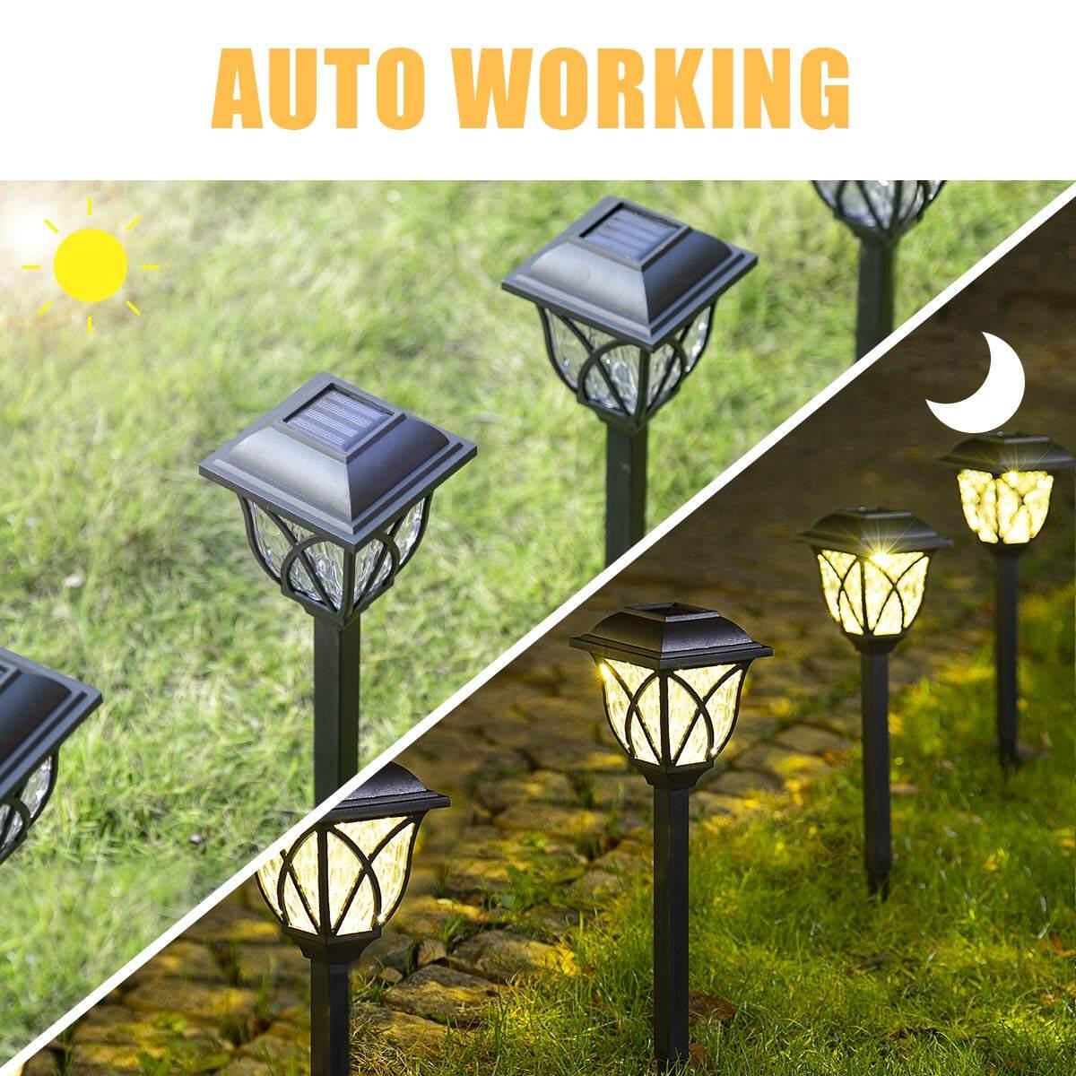 Solar Led Outdoor Garden Palace Lantern