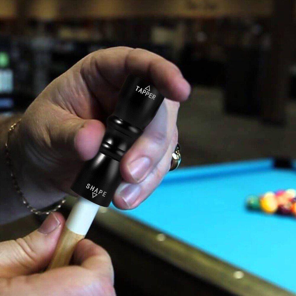 Premium  Pool Cue Tip Tool Shaper Scuffer Aerator Billiard Snooker Accessory