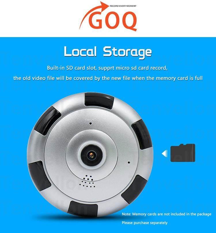 GOQ Mini UFO 360° Panorama View IP Security WiFi CCTV Camera Home  Survelliance 960P HD (V380 App)