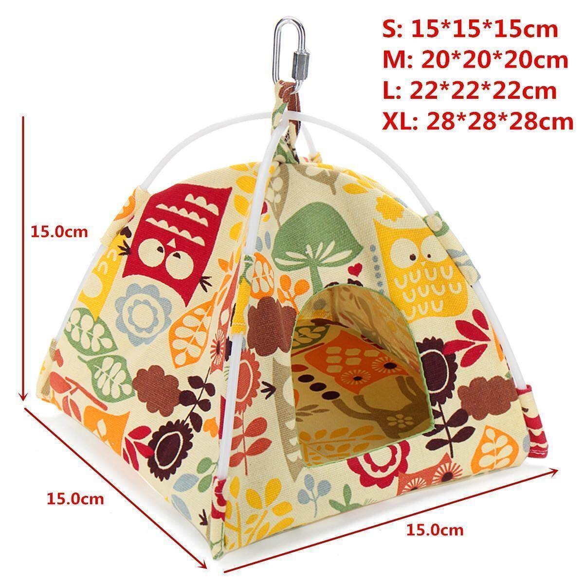 Cartoon Bird Parrot Warm Tent Nest Soft Coral Velvet Bird House Bed Cave  Cage