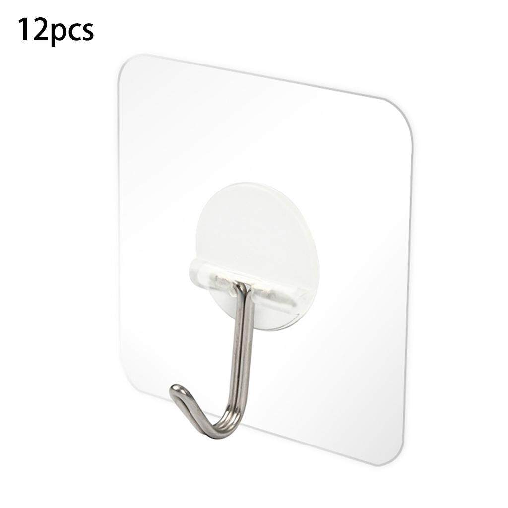 Hooks for Hanging Cute Wall Hook Seamless Reusable Scratch Wall Hook for Kitchen Bathroom Ceiling