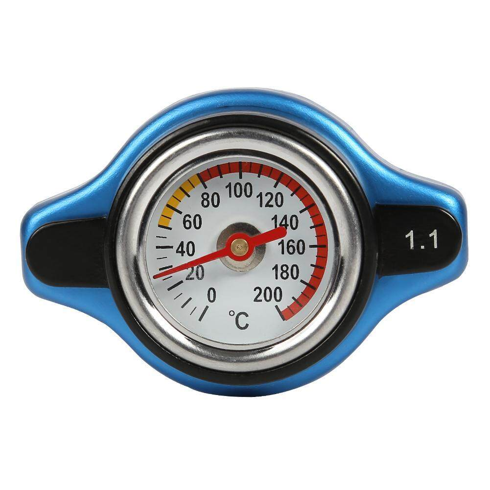 Big Head Temperature Gauge with Utility Safe Thermo Radiator Cap Tank Cover