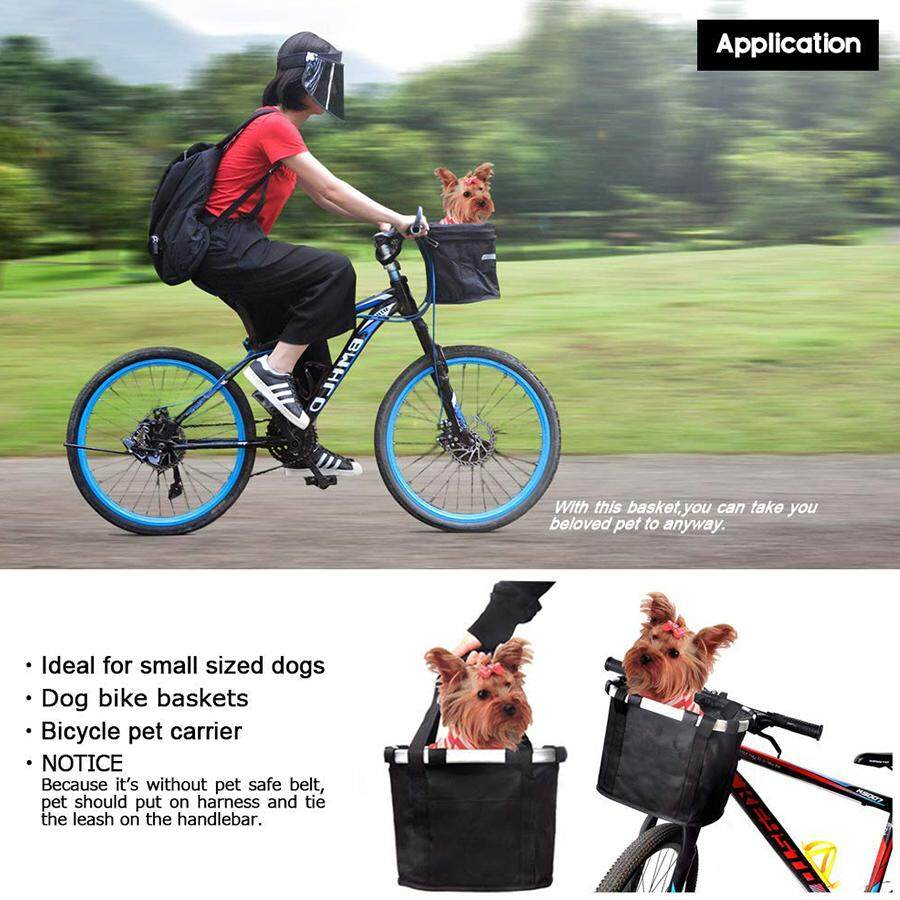 Cycling Bike Front Basket Bicycle Handlebar Bag Foldable Carrier Quick Release