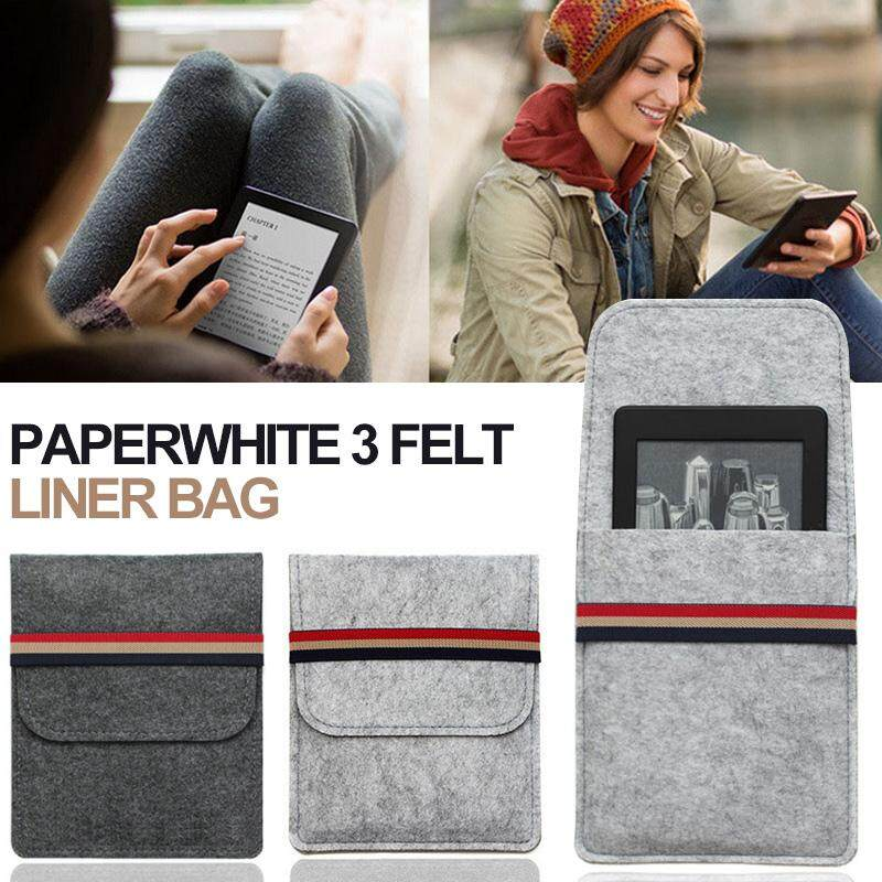 Crashworthy for Kindle Cover Case Reading Go out Dustproof Trunk Travel for  Kindle Paperwhite 1/2/3 Bag Protector Case for Kindle Felt Bag Protector