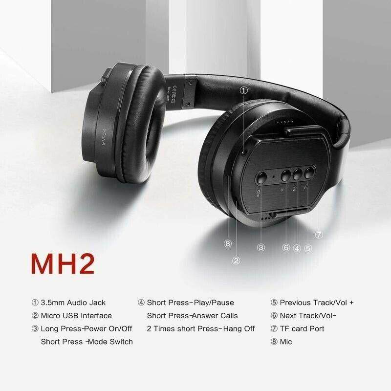 [MH2] SODO MH2 Bluetooth Headphone earphones Twist-out Speaker Bluetooth 2  in 1 Headset NFC TF card Aux-in Hands-free