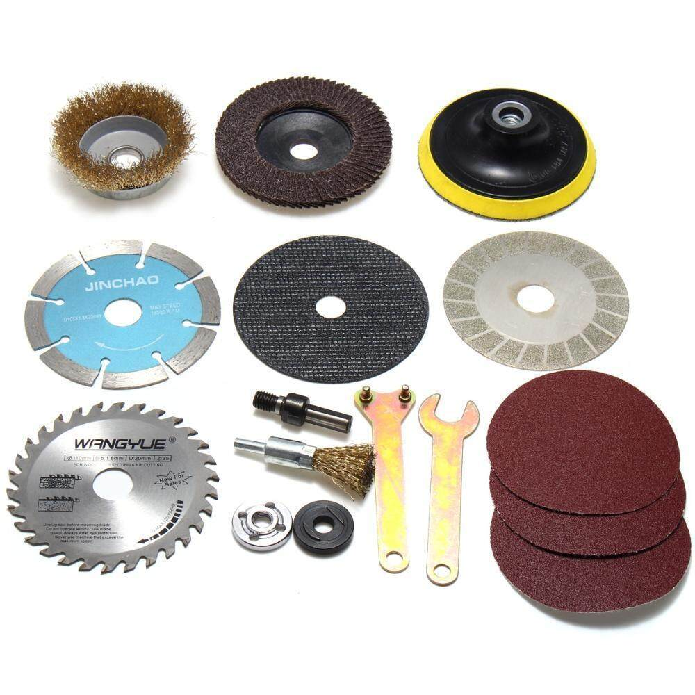 14PCS Angle Grinder Accessories Kit Cutting Polished Hand Drill Variable Easy Home, Furniture & DIY