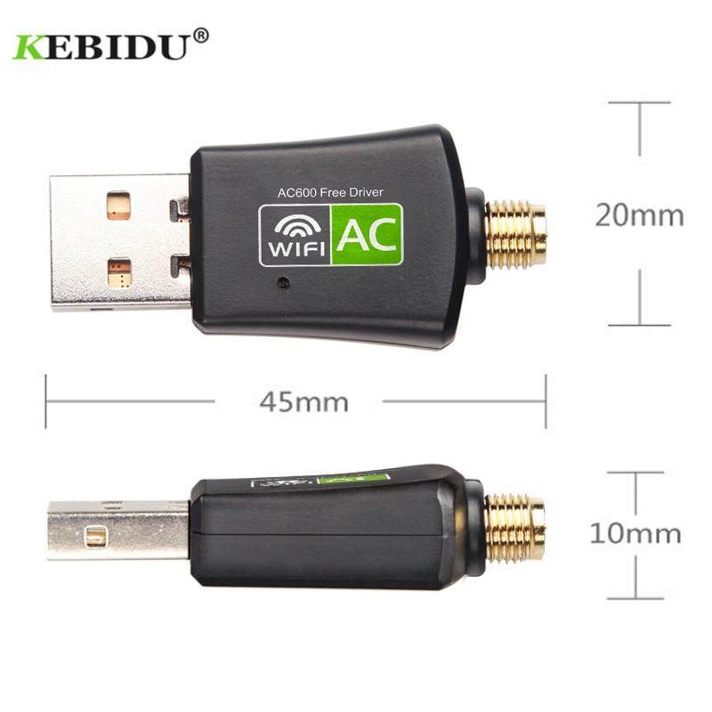 600Mbps Dual Band 2 4G + 5Ghz Free Driver USB WiFi Adapter Wi-Fi Antenna  Wifi Dongle Laptop PC Receiver RTL8811AU