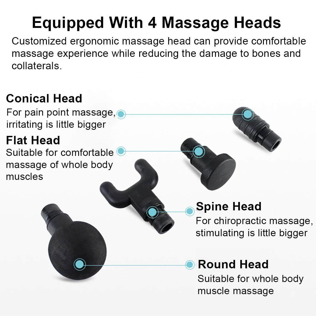 Image result for phoenix a2 massage gun 4 heads