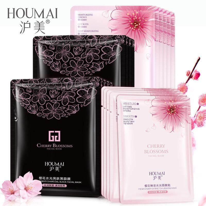 Korean facial masks whitening oil-control Alginate Snail Cherry face mask  Fabric moisturizing anti-aging glowing maske skin care