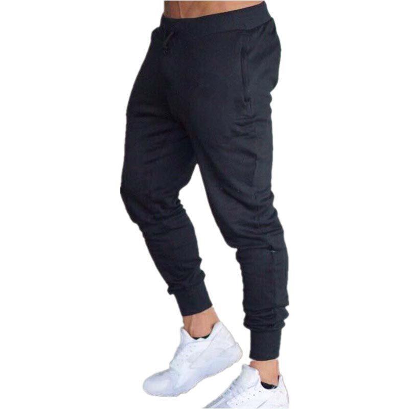 Men Trousers Casual Gym Sports Long Pants Sweatpants Jogger Running Sweat Pant