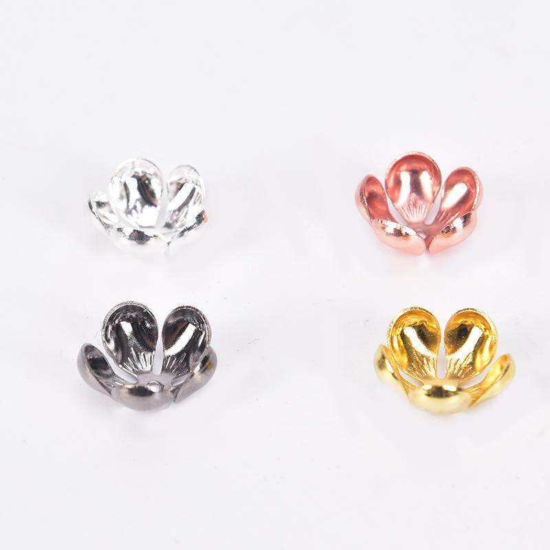 10pcs Flower Beads Cap Charm Finding Diy Jewelry Accessories Crafts 13mmx 5mm ^S