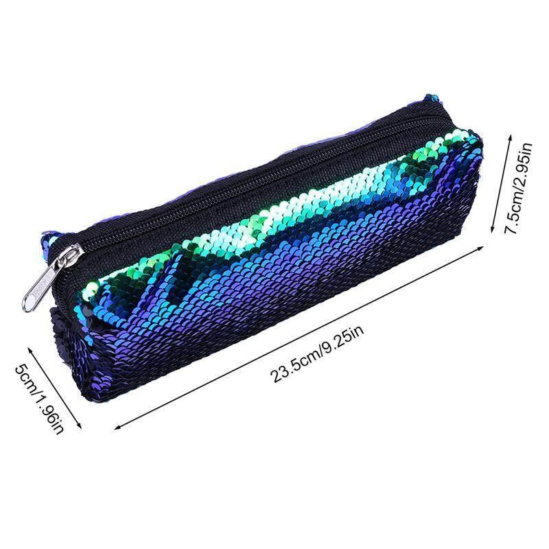 8981931d51b7 BluShine Fashion Double Color Reversible Magical Sequins Handbag Glitter  Pencil Case Cosmetic Bag Mermaid Sequin Makeup Pouch Makeup Bags