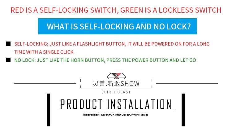Spirit Beast Motorcycle Light Switch Assembly Handlebar Spotlight Control  on-off For Honda Yamaha Suzuki Harley BMW KTM Benelli Double self-locking