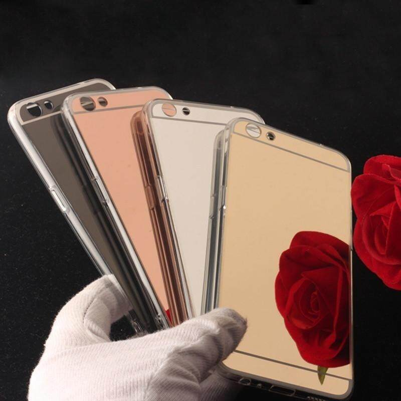 quality design e265a 850b0 1 Pc/lot Luxury Mirror Phone Case for OPPO A71 Cases for OPPO A71 Back  Cover Soft TPU Full Edge Protection Cases Multi-Color