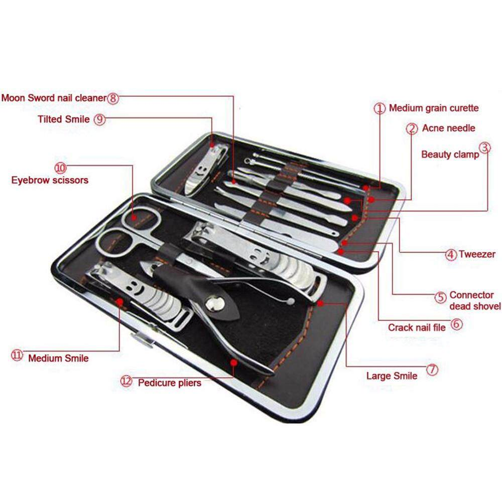 12PCS Stainless Steel Nails Tool