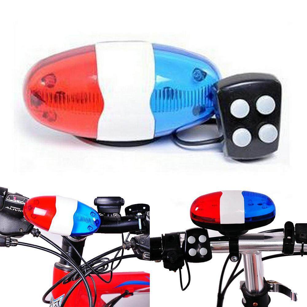 LTPlaza Bike Electric Horn, Bicycle LED Lights Electronic Cycling Bike  Police Sound Cycling Horn Bell Siren for Kids Bicycle
