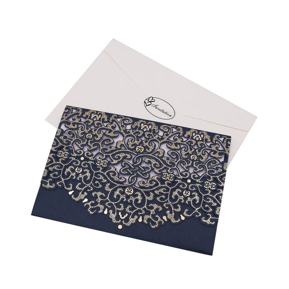 10pcs Delicate Carved Romantic Wedding Party Invitation Card