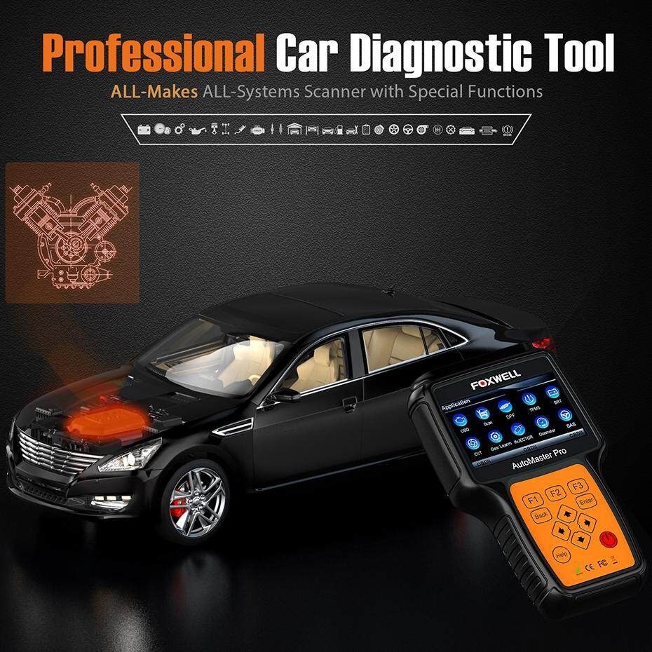 FOXWELL NT644 Pro Full System Check Engine ABS SRS Transmission OBD2  Scanner Professional Diagnostic Tool Oil TPMS / TPS/TBA / DPF/ EPB / CVT  Reset
