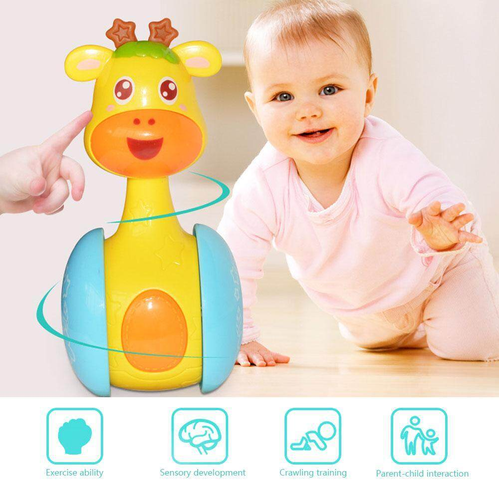 0-12 Months Baby Rattles Tumbler Doll Bell Music Learning Education Toys