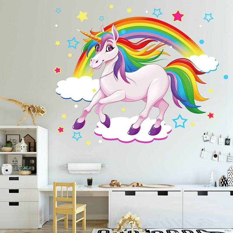 menakjubkan 16 harga wallpaper dinding unicorn  richa
