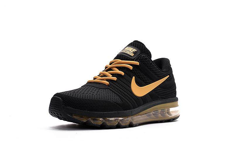 nouvelle arrivee a6552 d26d5 NIke air max 2017 Nano Technology Classic Men's Running Shoes Outdoor  Lightweight Sneakers Black Gold 40-46