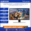 Samsung U28E590DS 28 4K UHD TN 60Hz 1ms FreeSync LED Monitor UE590 (LU28E590DS/XM) VGA, Dual HDMI & DisplayPort, Headphone Jack, VESA Compatible, Game Mode, Eye Saver Mode, Flicker Free