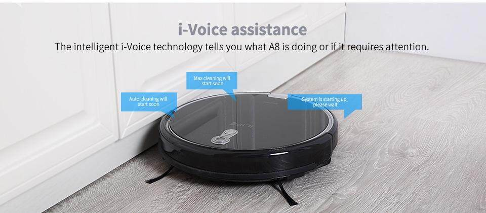 Ilife A8 Robotic Vacuum Cleaner with Camera Navigation - Black US
